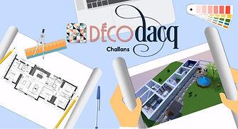 publicité de Déco Dacq au cinéma de Challans85