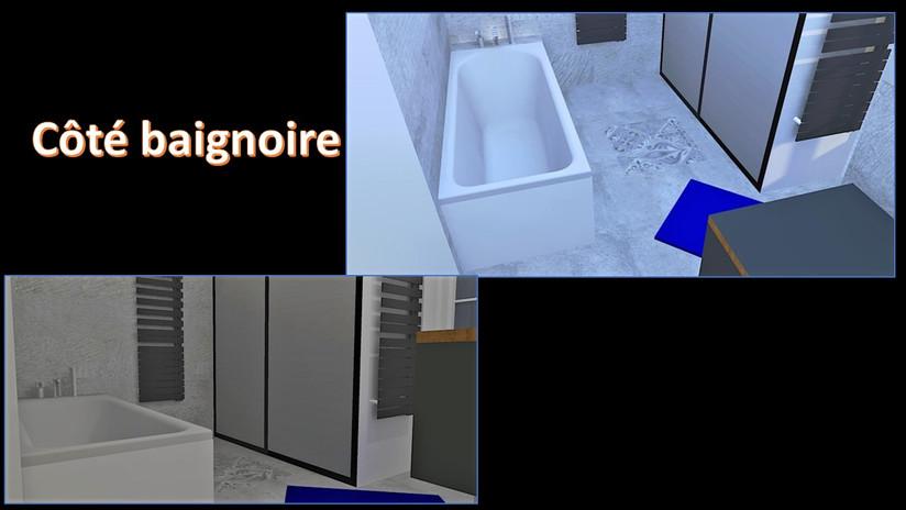 maquette 3D côté baignoire