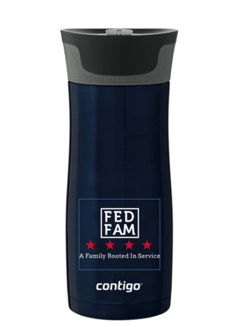 16 Oz. Contigo Blue FedFam Coffee Tumbler