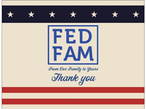 FedFam Thank You Cards