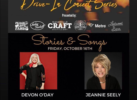 """Devon O'Day Hosts  """"An evening of Stories and Music with Grand Ole Opry legend, Jeannie Seely"""""""