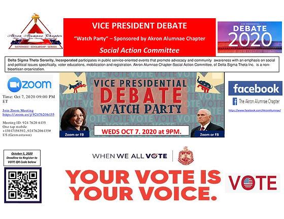AAC Social Action - VP DEBATE-ZOOM or FB