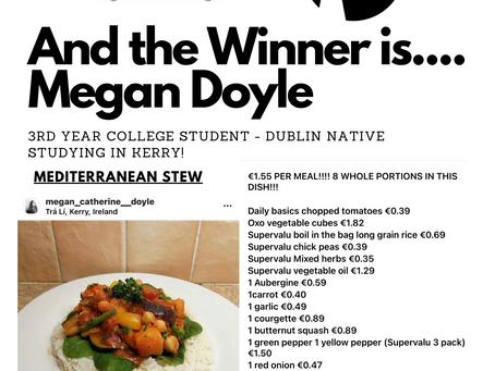 Congrats Megan! Winner of €500 #Supervalu Food Voucher! #makingamealofit