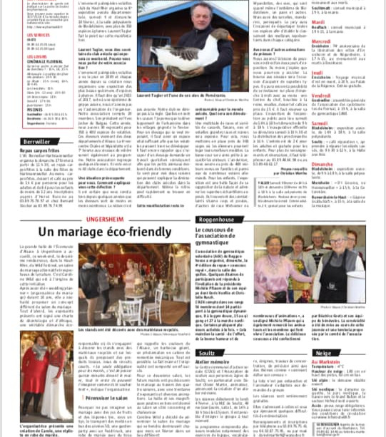 Article l'Alsace 2019