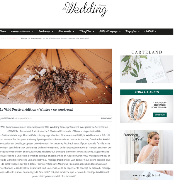 Article le Wedding Magazine 2019