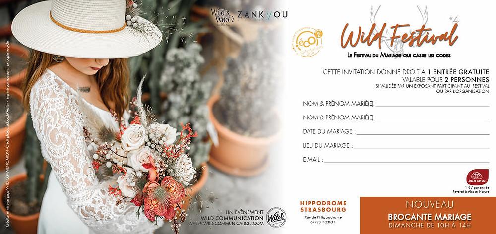 invitation wild wedding festival 2019 verso
