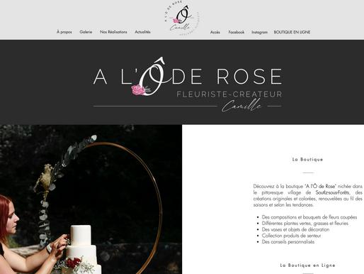 """Nouveau site pour """"A l'Ô de Rose"""""""