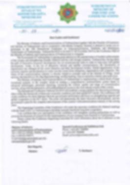 TurkmenTEL Welcome Letter