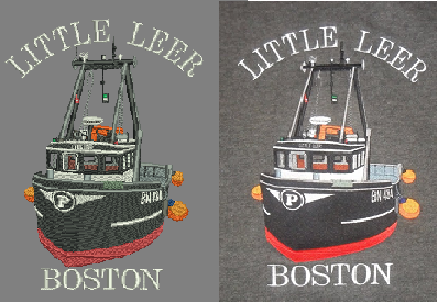 Little Leer Boston embroidery digitisation comparison