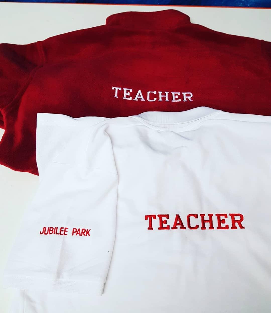 Jubilee Park Teacher Shani's Embroidery