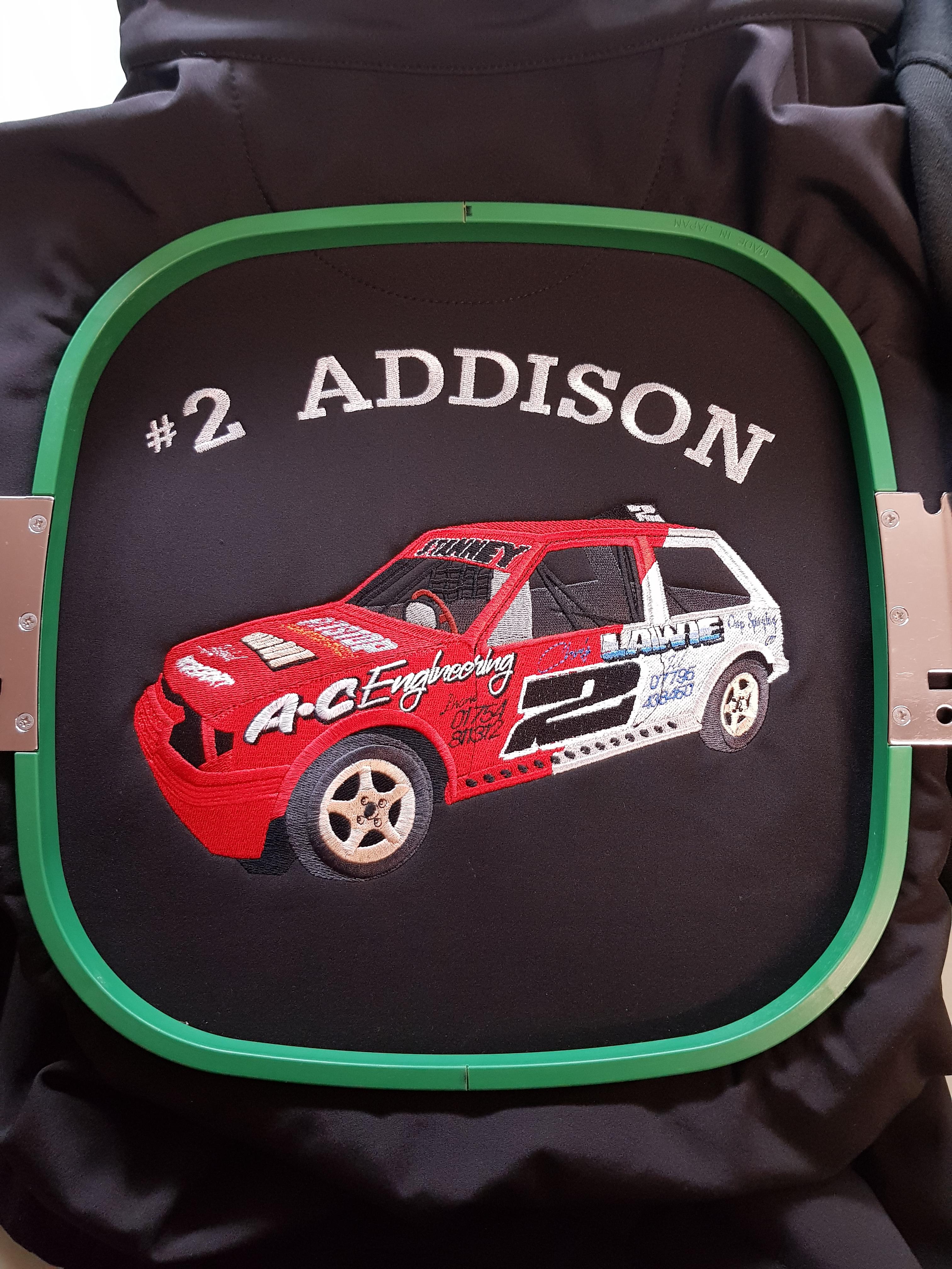 Addison racing car
