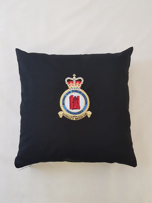 RAF Coningsby station badge cushion cover