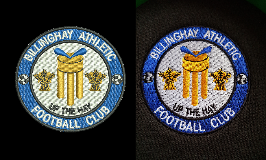 Billinghay Football Club embroidery digitisation comparison