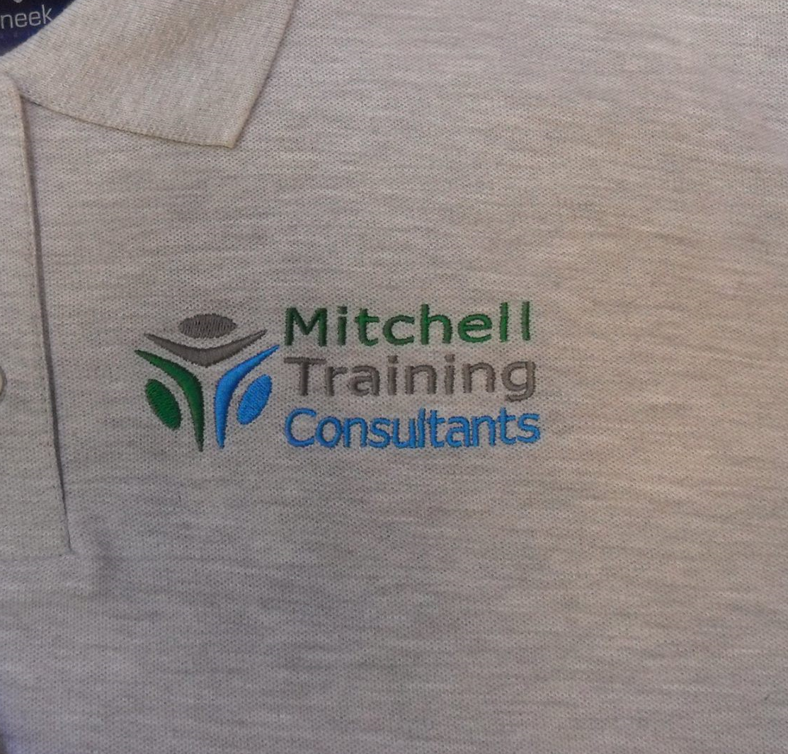 Mitchell training Shani's Embroidery