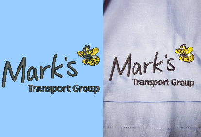 Marks Transport Group digitisation embroidery comparison