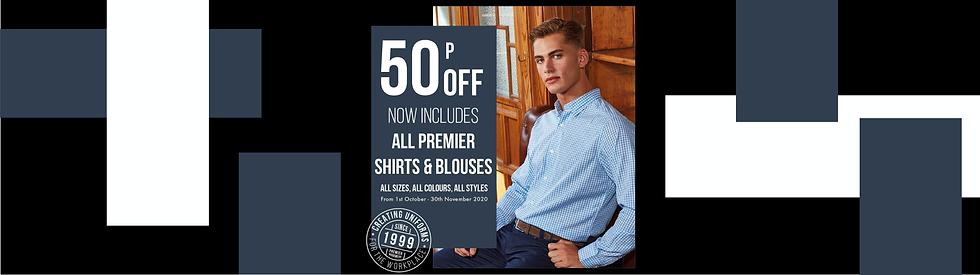 Premier Blouses 50p discount banner for
