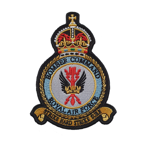 Bomber Command Embroidered Crest Badge