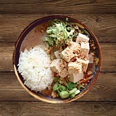 Erdnusssoße mit Tofu