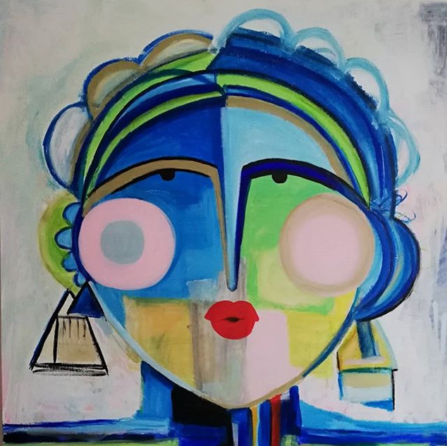100x100 Lady blues #artwork #modernekuns