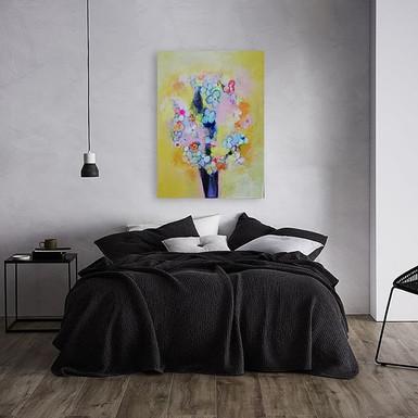 Yellow Flower Power Vol. 2 60x80 #painti