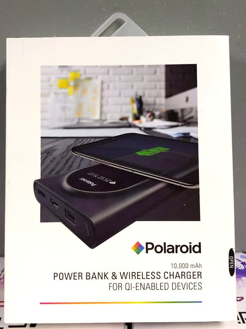 POLAROID POWER BANK & WIRELESS CHARGER 10,000 mAh