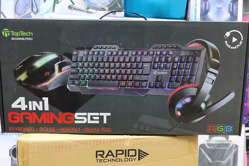 4 in 1 GAMING SET- KEYBOARD, MOUSE, HEADSET & MOUSE PAD