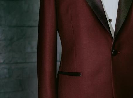 酒紅色禮服