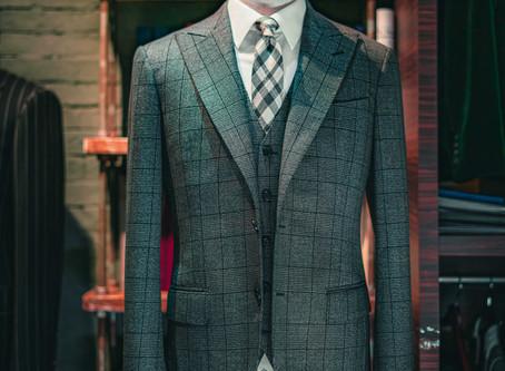 Grey Prince of Wales Check by Drago - Lanificio In Biella