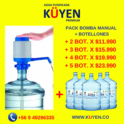 PACK BOMBA AGUA MANUAL