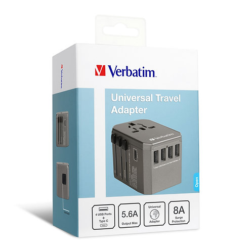 Verbatim 5 Ports Travel Adapter