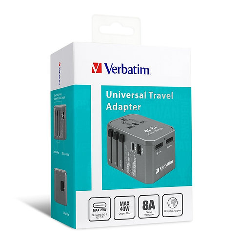 Verbatim 4 Ports QC/PD Travel Adapter