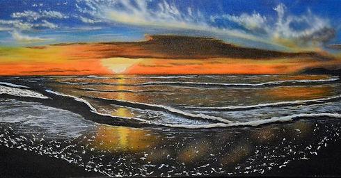 sunset paradise ($350) 16x40 original ac