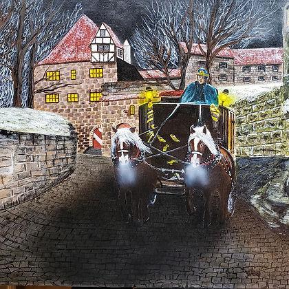 winter stroll ($650) 8x24 original acryl