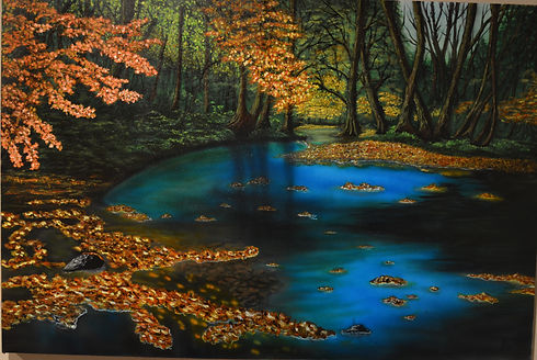 Enchanted forest($900) 24x36 original ac