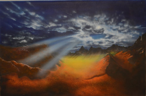 Lost Valley ($225) 24x36 original aiirbr