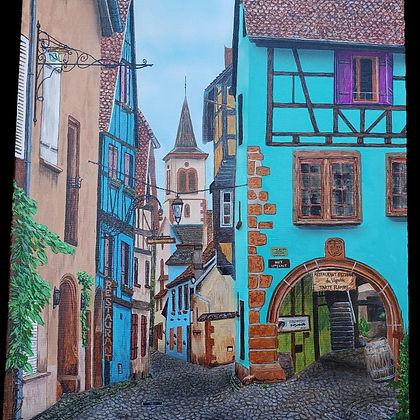 old europe ($900) 18x24 original acrylic