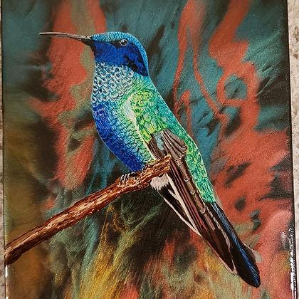 hummingbird ($175) 9x12 original epoxy p