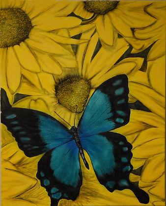 sunflower ($175) 16x20 original airbrush