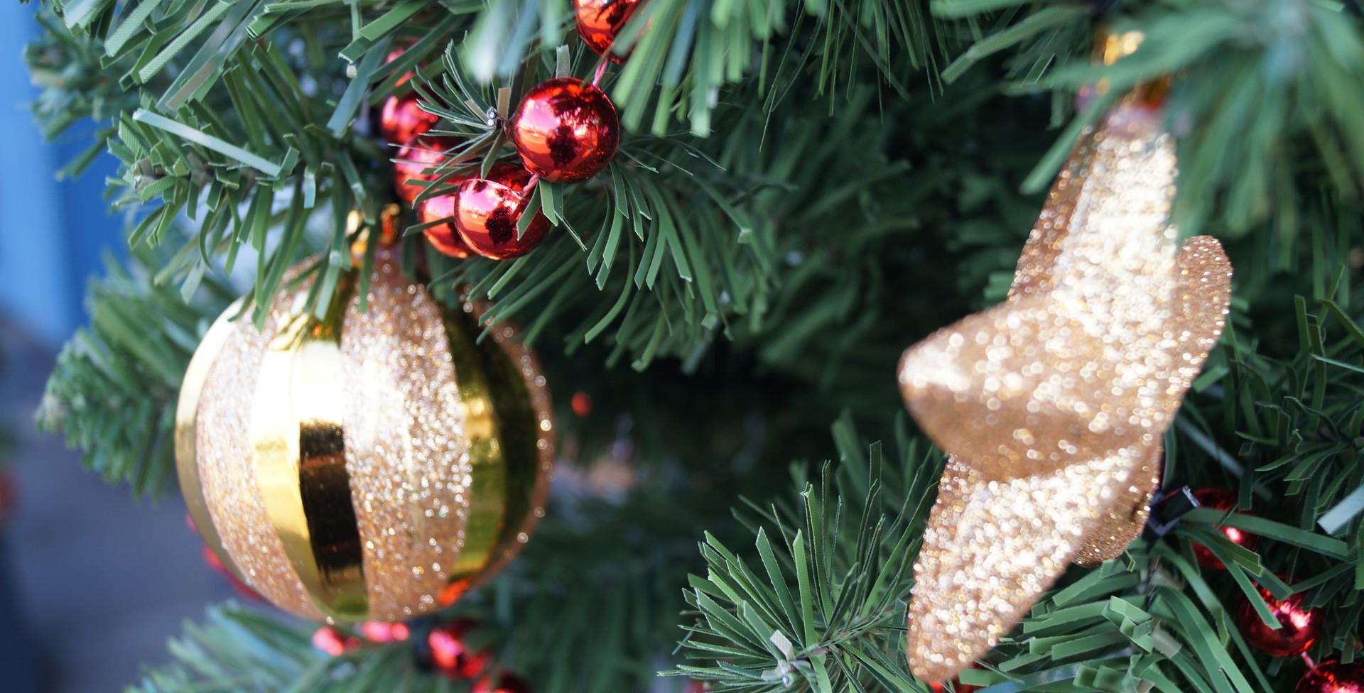 Kerstboog buiten detail 3 kerstboom