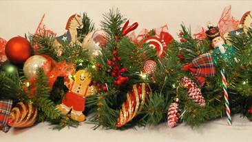 guirlande old school christmas