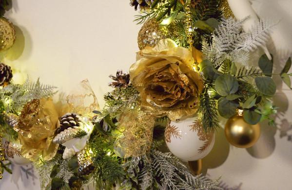 kersthoepel golden glow detail