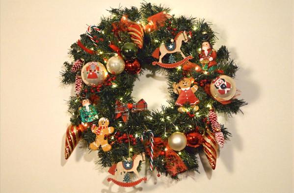 Kerstkrans old school christmas