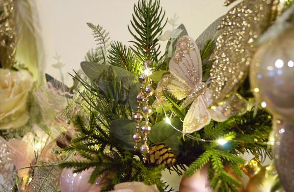 kersthoepel romantic chic detail