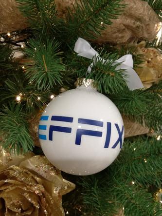 Effix detail kerstbal