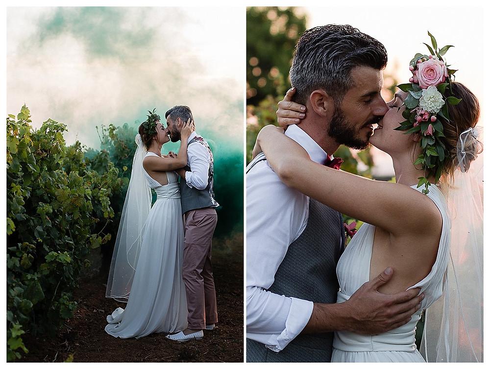 mariage dans les vignes au domaine fon de rey - les moments d'où photographie