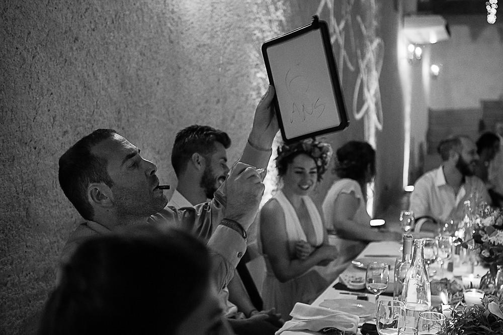 repas mariage au domaine fon de rey - les moments d'où photographie