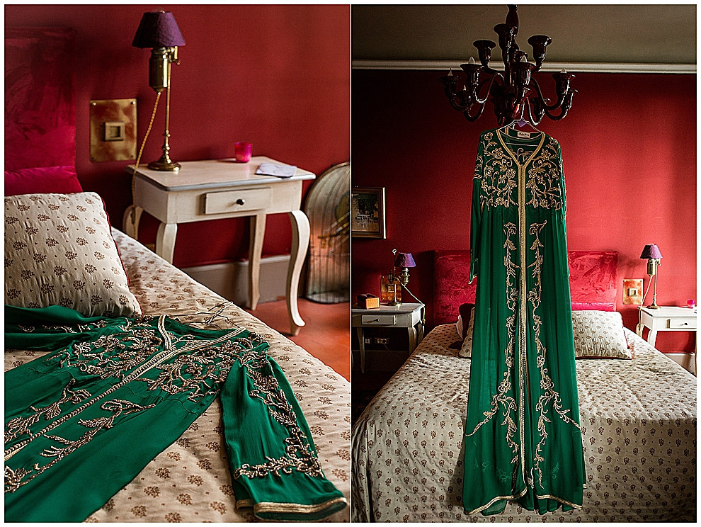 les-moments-d-ou-mariage-franco-marocain-mas-saint-florent-arles-préparatifs-kaftan-vert