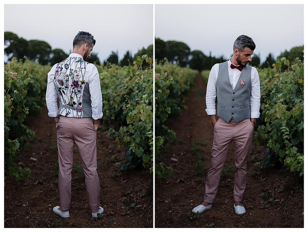 elegant marié dans les vignes au domaine fon de rey - les moments d'où photographie