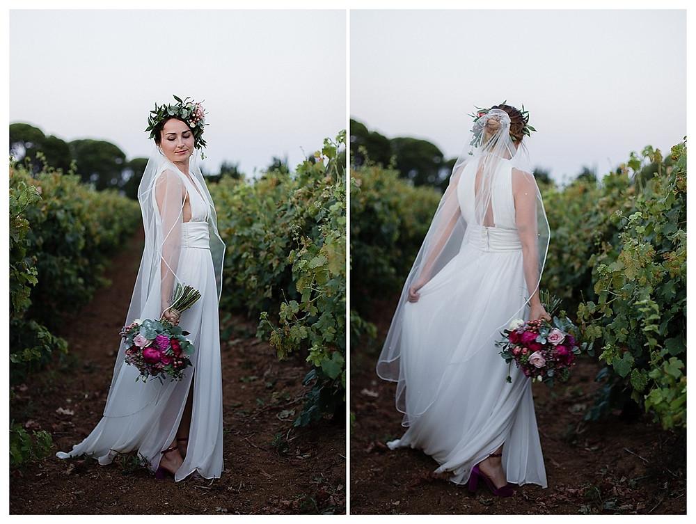 magnifique mariée dans les vignes au domaine fon de rey - les moments d'où photographie