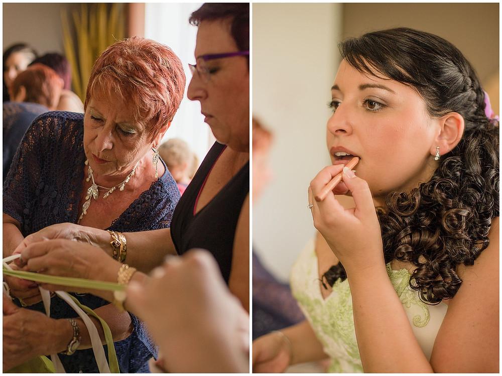 préparatifs d'un mariage champêtre à Gaillac, Tarn, les moments d'où - photographie